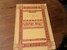 OLD MUSIC BOOK J S BACH SLEEPERS WAKE SATB  CANTATA NOVELLO VOCAL SCORE